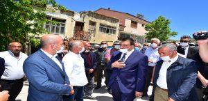 Başkan Gürkan'dan Akçadağ ziyareti