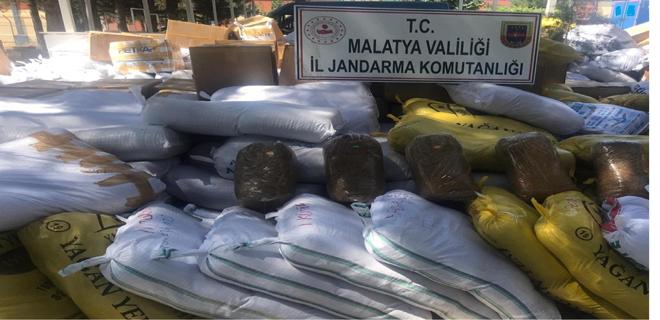 Malatya İl Jandarma Komutanlığı Tütün Yakaladı