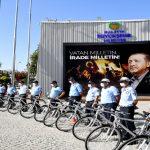 Büyükşehir Belediyesinden Avrupa Hareketlilik Haftasına Bisikletli Destek