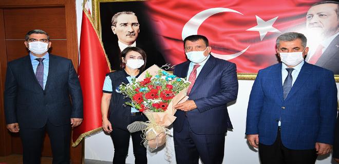 Zabıtaların 'Zabıta Haftası'nı kutlayan Başkan Gürkan
