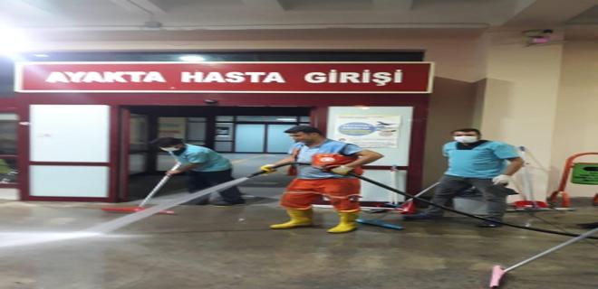 Büyükşehir'den Kapsamlı Temizlik ve Dezenfekte Çalışması